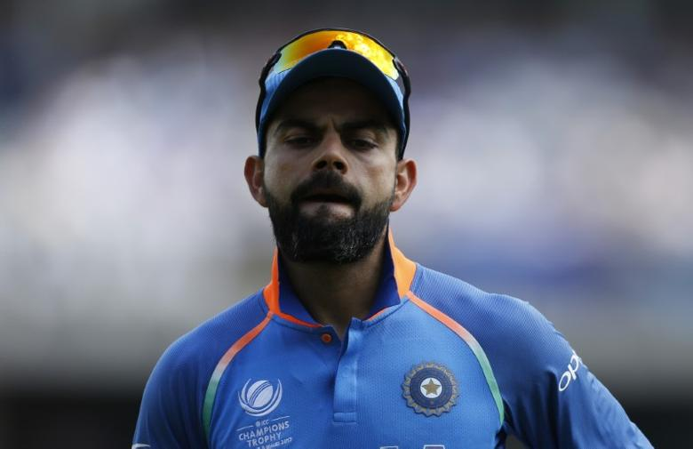 Britain Cricket - Pakistan v India - 2017 ICC Champions Trophy Final - The Oval - June 18, 2017 India's Virat Kohli Action Images via Reuters / Andrew Boyers