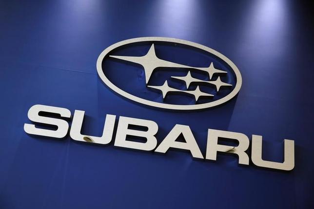 6月19日、SUBARU(スバル)は、運転支援システム「アイサイト」の一部機能を向上させたと発表した。写真はスバルのロゴ、5月撮影(2017年 ロイター/Kim Kyung-Hoon)