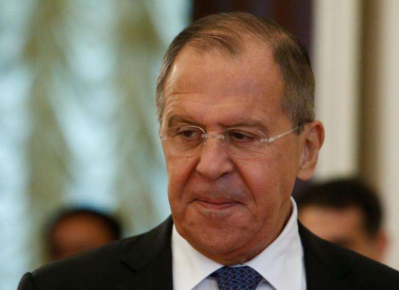Russian Foreign Minister Sergei Lavrov enters a hall during a meeting with Laotian Foreign Minister Saleumxay Kommasith in Moscow, Russia June 16, 2017. REUTERS/Sergei Karpukhin