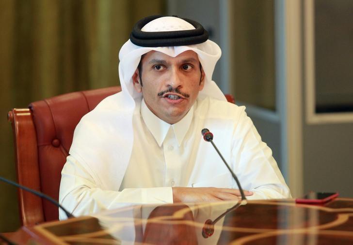 Qatar's foreign minister Sheikh Mohammed bin Abdulrahman al-Thani speaks to reporters in Doha, Qatar, June 8, 2017. REUTERS/Naseem Zeitoon