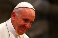 Papa Francisco em conferência em Roma   19/6/2017    REUTERS/Tony Gentile
