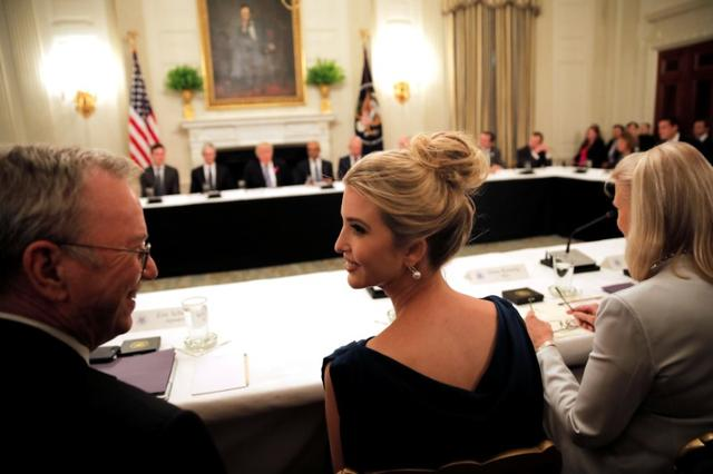 Ivanka Trump participates in an American Technology Council roundtable at the White House in Washington, U.S., June 19, 2017. REUTERS/Carlos Barria