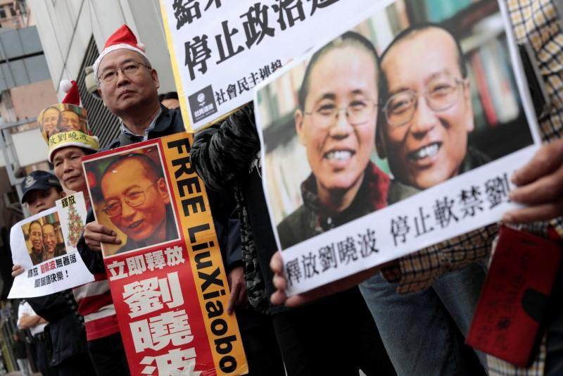 Image result for Protesters urge govt to free wife of Chinese Nobel Laureate