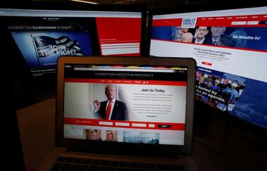 The websites of the three largest Political Action Committee (PAC) groups...