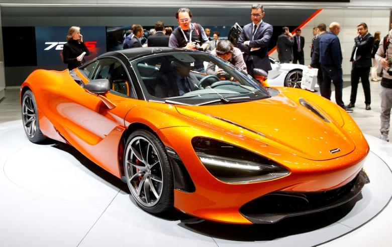 FILE PHOTO: A McLaren 720S car is seen during the 87th International Motor Show at Palexpo in Geneva, Switzerland March 8, 2017. REUTERS/Arnd Wiegmann/File Photo