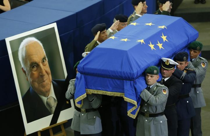 World leaders bade Kohl farewell, hailing a force behind united Europe