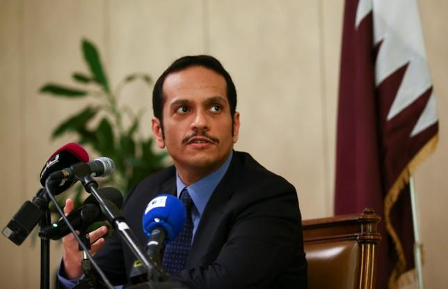 Qatari Foreign Minister Sheikh Mohammed bin Abdulrahman al-Thani attends a news conference in Rome, Italy, July 1, 2017.   REUTERS/Alessandro Bianchi