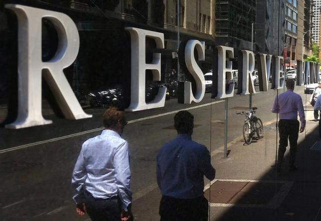 7月4日、オーストラリア準備銀行(RBA、中央銀行)が4日、政策理事会後に発表した声明は以下の通り。政策理事会はきょうの会合で、政策金利のキャッシュレートを1.50%に据え置くことを決定した。写真はシドニーで2月撮影(2017年 ロイター/Steven Saphore)