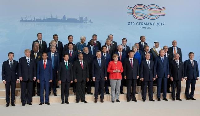 ドイツのハンブルクで開催された20カ国・地域(G20)首脳会議(サミット)は8日、2日間の日程を終えて閉幕した。7日撮影(2017年 ロイター/Ian Langsdon)