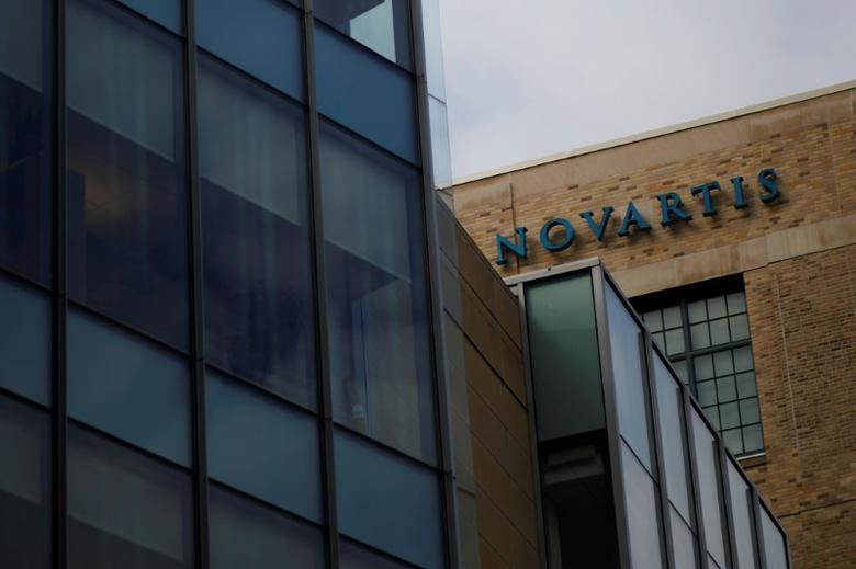 A sign marks a building on Novartis' campus in Cambridge, Massachusetts, U.S., February 28, 2017. Brian Snyder