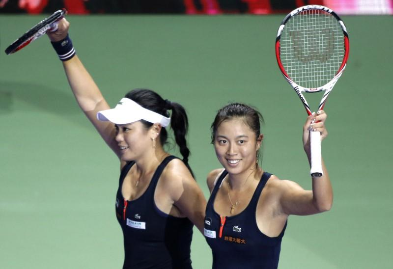 Chan sisters in quarter-final doubles action at Wimbledon