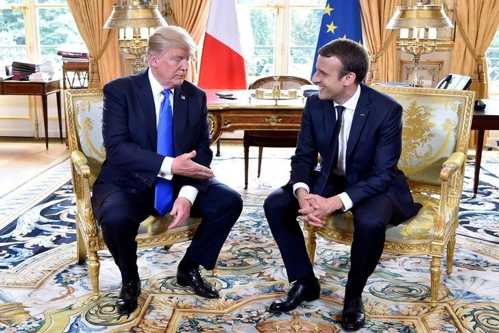 Factbox Trump On Twitter July 14 Emmanuel Macron Obamacare
