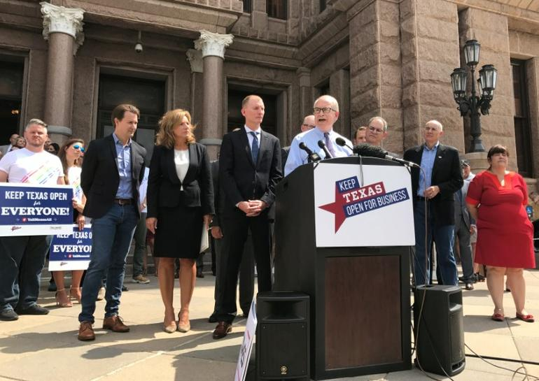 photo image Texas business leaders call on lawmakers to drop 'bathroom bill'