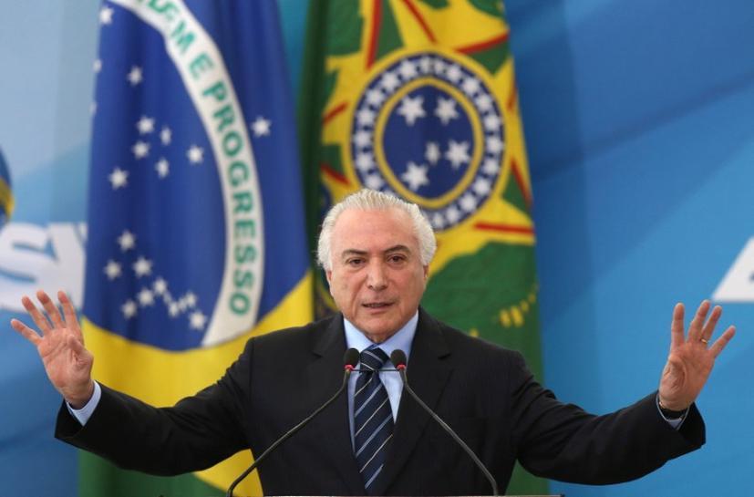 Brazil's Temer says to begin work soon on simplifying tax code