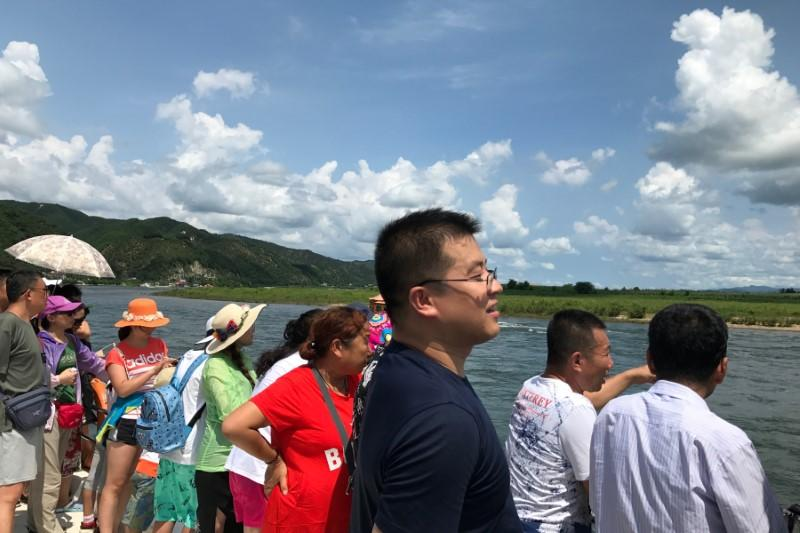 Image result for Chinese tourists Yalu River