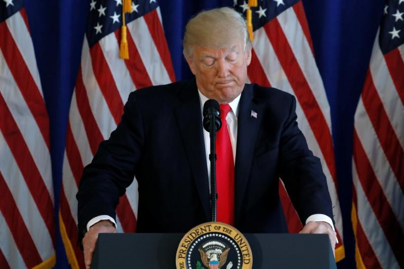 photo image Charlottesville violence tests Trump's presidential mettle