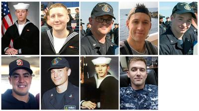 Missing sailors of USS McCain