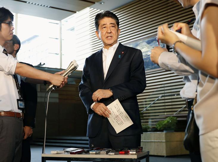 Japan PM Abe says agreed with Trump to increase pressure on North Korea