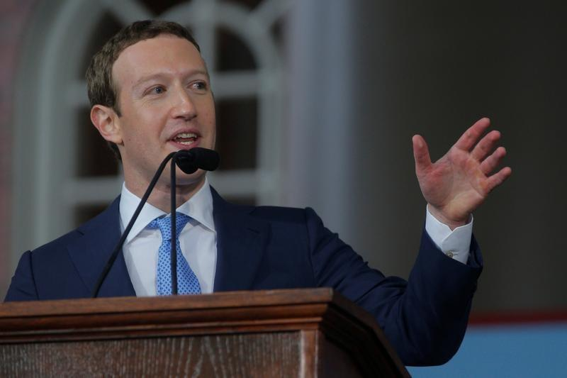 Facebook founder Mark Zuckerberg speaks during the Alumni Exercises following the 366th Commencement Exercises at Harvard University in Cambridge, Massachusetts, U.S., May 25, 2017.   Brian Snyder