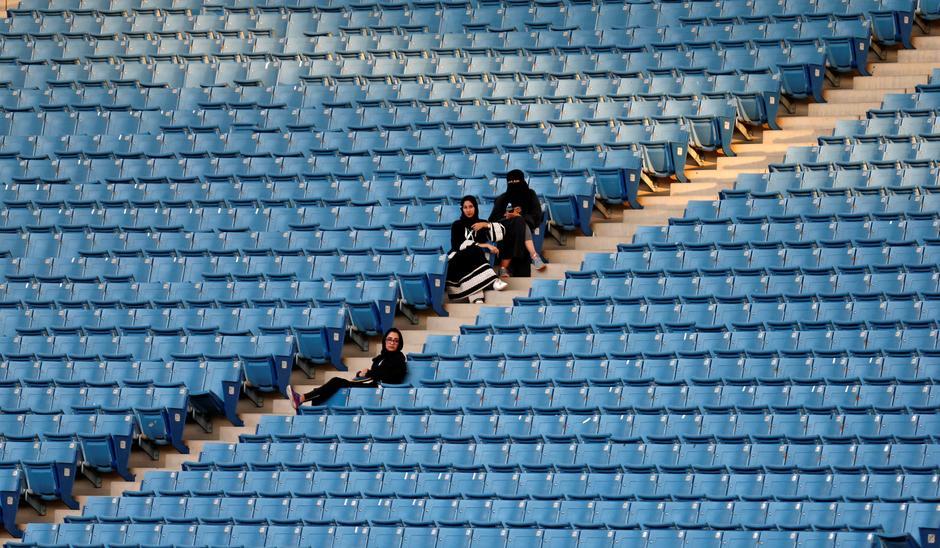 National celebrations open Saudi sports stadium to women for