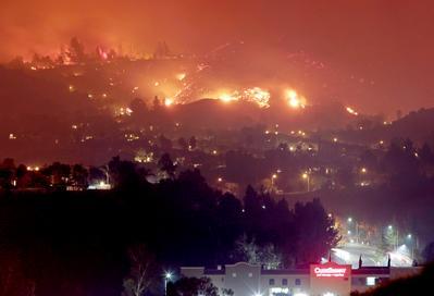 Canyon Fire in California