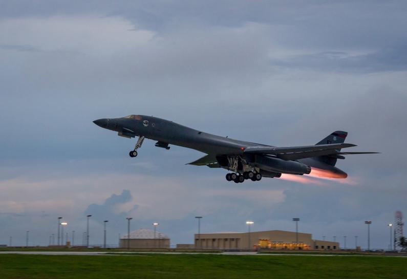 U.S. flies bombers over Korea as Trump discusses options