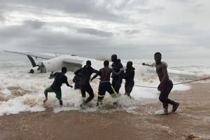 Cargo plane crashes off Ivory Coast