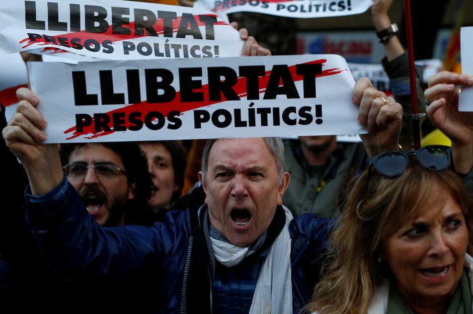 Image result for catalonia separatist protest