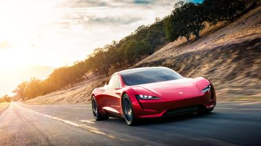 Tesla Roadster 2 is shown in this undated handout photo, during a...