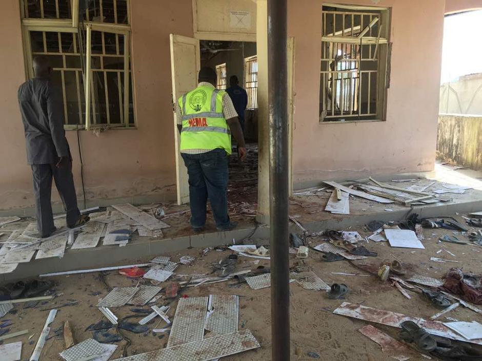 Image result for 23 killed, 30 injured in Mubi Mosque blast - NEMA