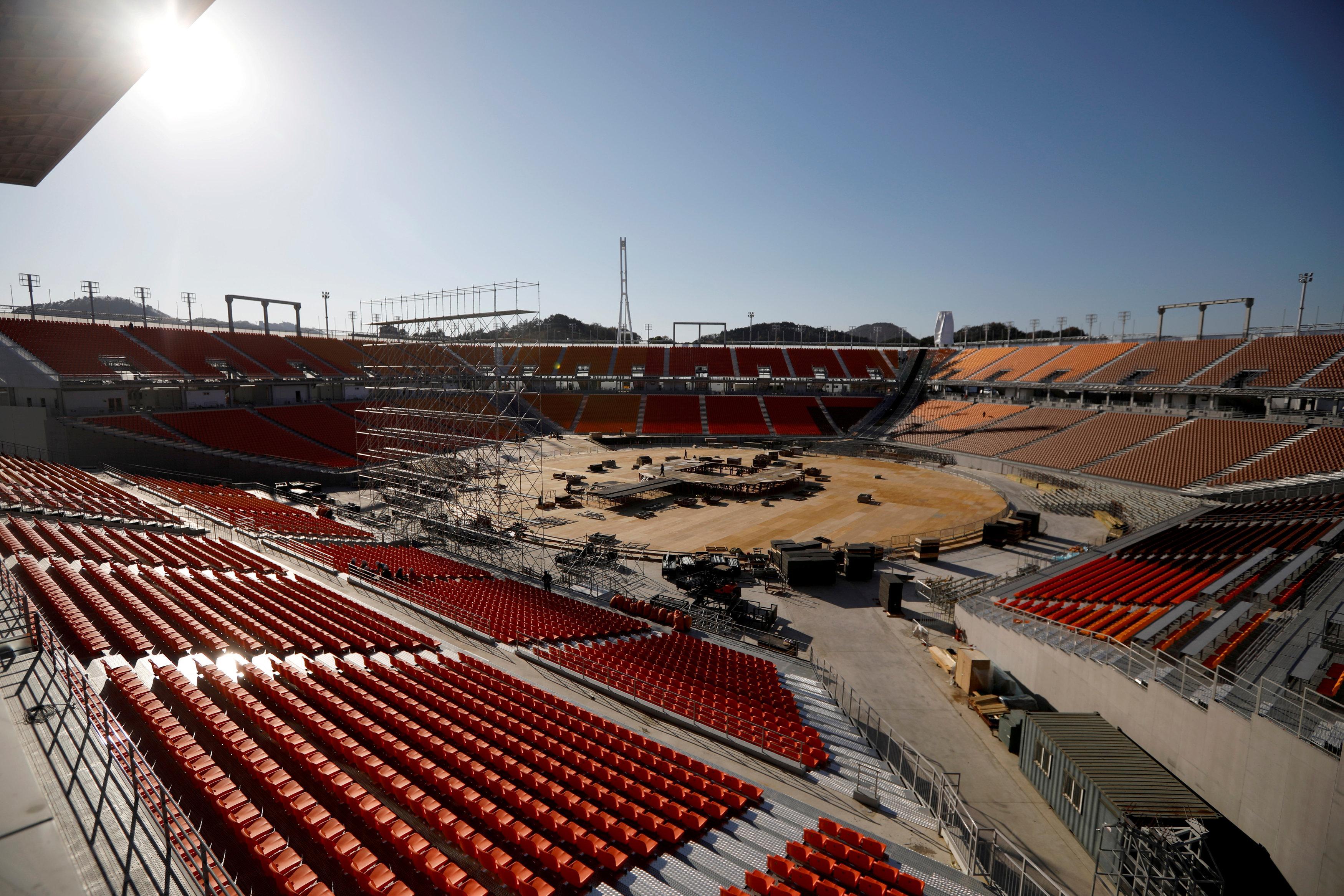 Hasil gambar untuk Pyeongchang in a cold sweat over freezing opening ceremony
