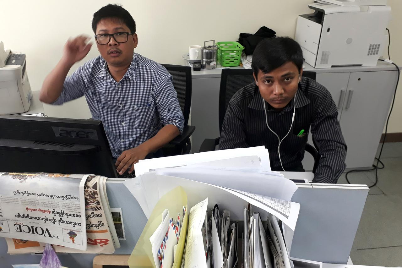 47511fa650d8 Two Reuters journalists arrested in Myanmar