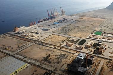 A general view of Gwadar port in Gwadar