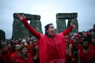 Winter solstice on Stonehenge