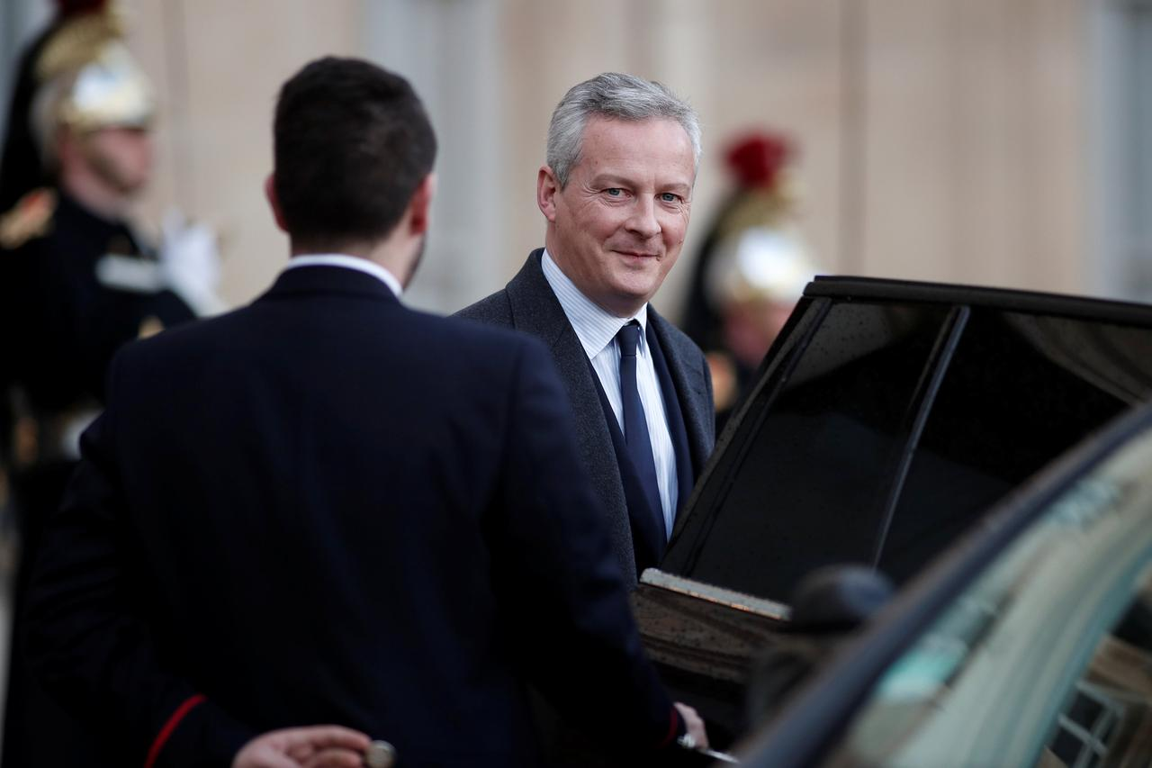 Image result for French Finance Minister Bruno Le Maire leaves the Elysee Palace after the first weekly cabinet meeting of the year and a government seminar in Paris, France, January 3, 2018. REUTER