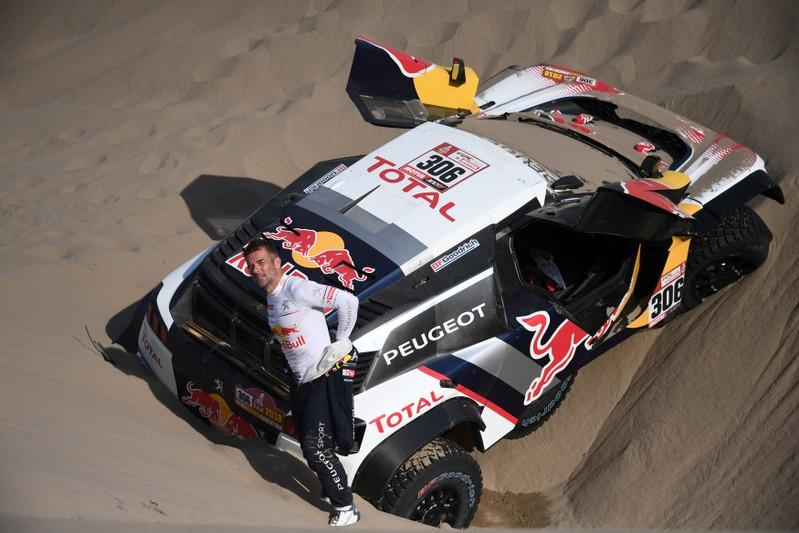 rallying loeb out of dakar as peterhansel forges on reuters. Black Bedroom Furniture Sets. Home Design Ideas
