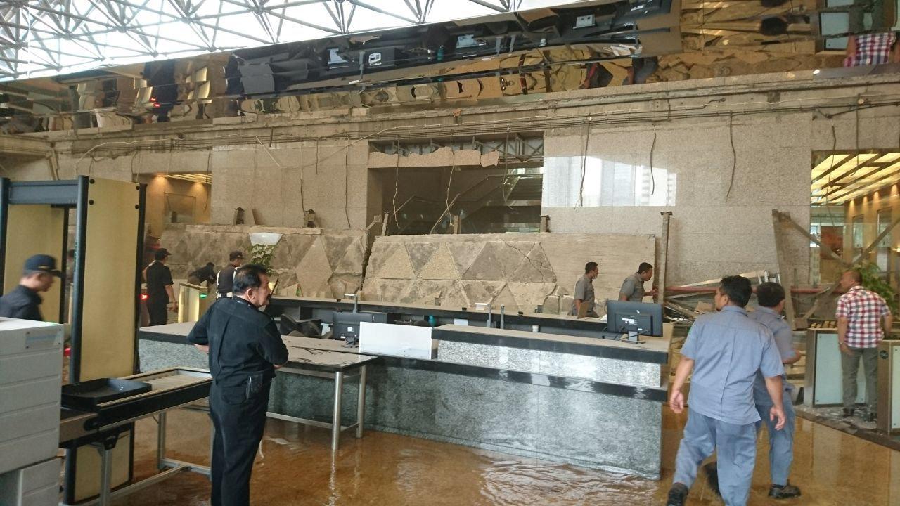stock exchange building lobby floor