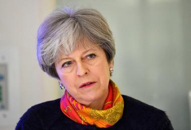 Britain's Prime Minister Theresa May visits Frimley Park Hospital near...