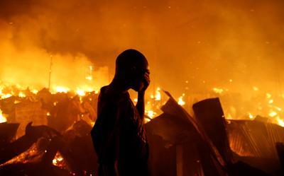 Thousands homeless after Kenya slum fire