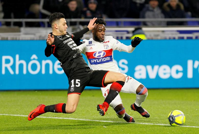 Soccer Lyon Upset By Rennes Lose Ground In Race For Second In Ligue 1 Reuters Com