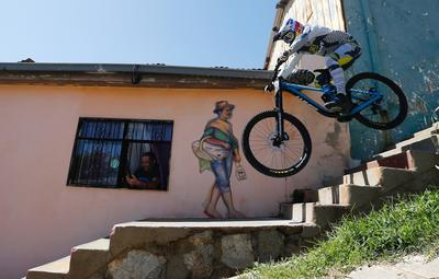 Flying down the streets of Valparaiso, Chile