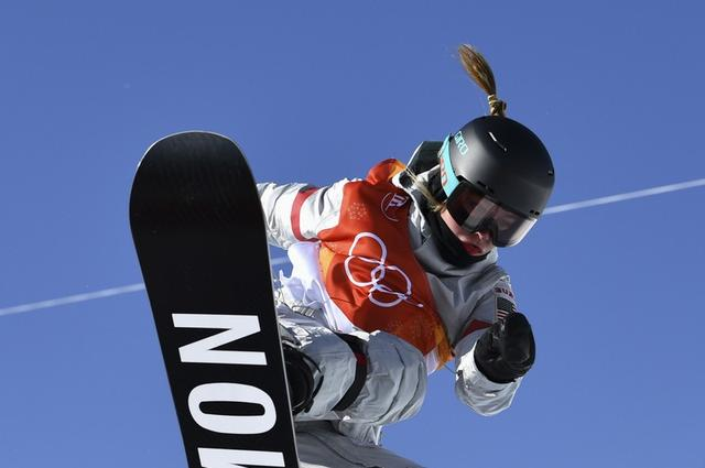 Snowboarding - Pyeongchang 2018 Winter Olympics - Women's Halfpipe Finals - Phoenix Snow Park - Pyeongchang, South Korea - February 13, 2018  - Maddie Mastro of the U.S. competes. REUTERS/Dylan Martinez