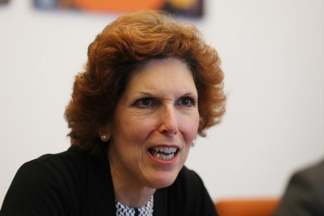 Loretta Mester, president of the Federal Reserve Bank of Cleveland, speaks during an interview in Manhattan, New York, U.S., August 15, 2017. REUTERS/Shannon Stapleton