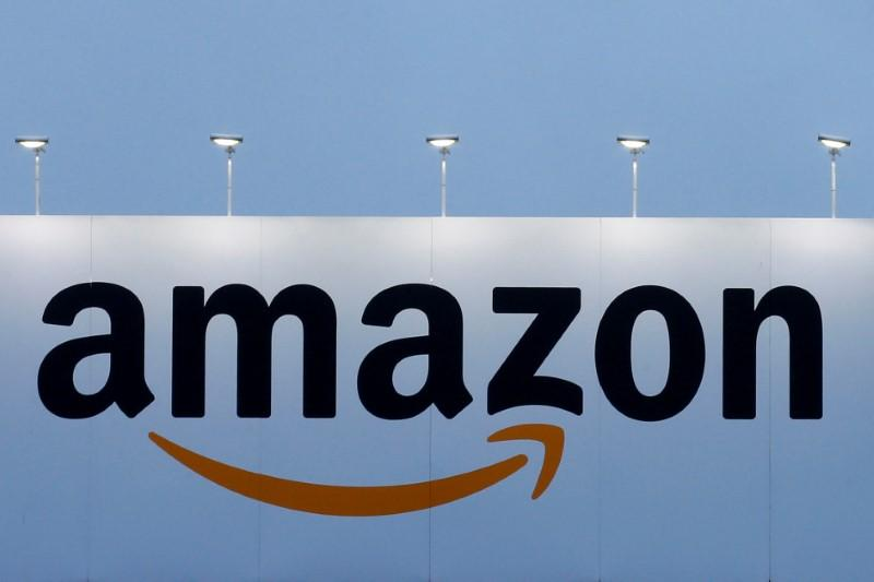 FILE PHOTO The Logo Of Amazon Is Seen At Company Logistics Center In Lauwin Planque Northern France On February 20 2017