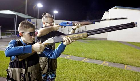 At the gun range with Florida youth shooting club