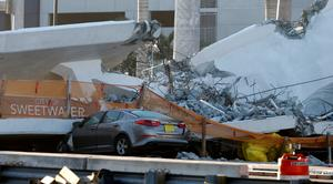 Pedestrian bridge collapses in Miami