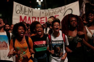Thousands protest murder of Brazilian activist politician