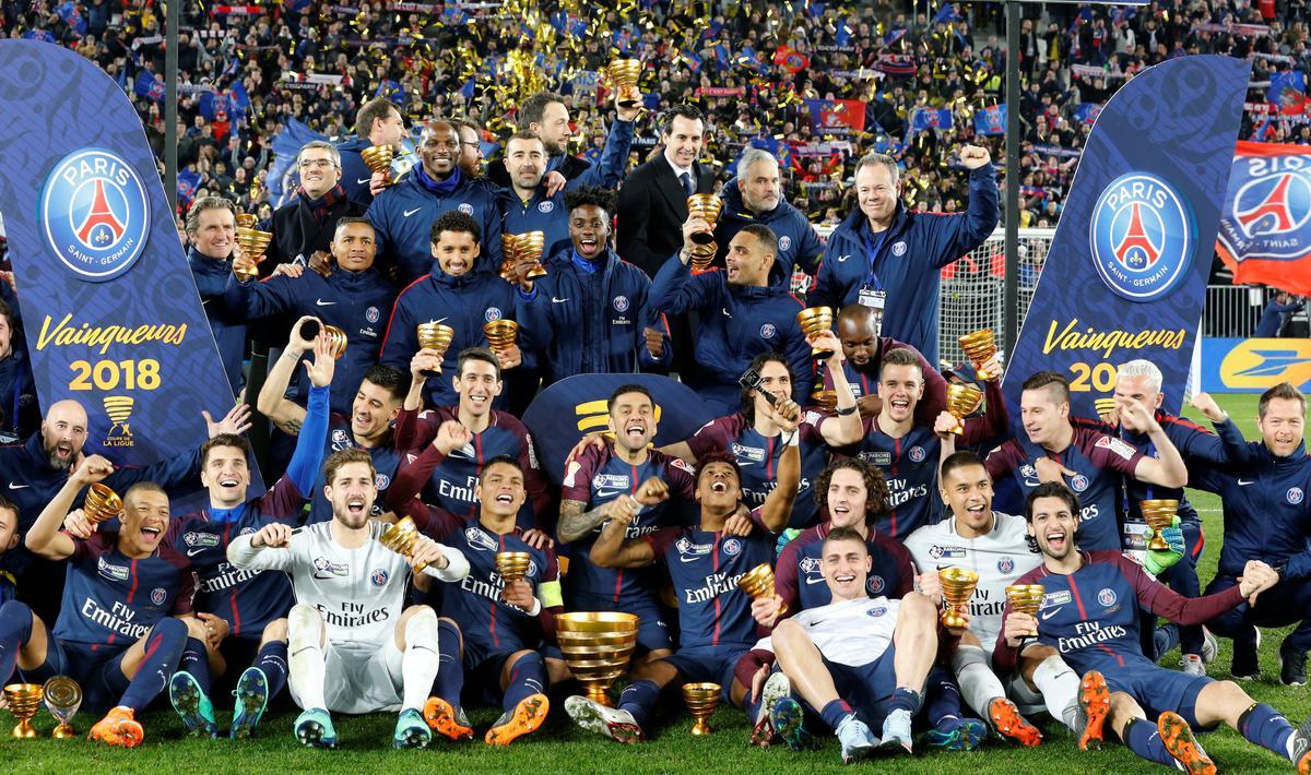 Mbappe shines as psg beat monaco for fifth straight league cup reuters - Final de la coupe de la ligue ...