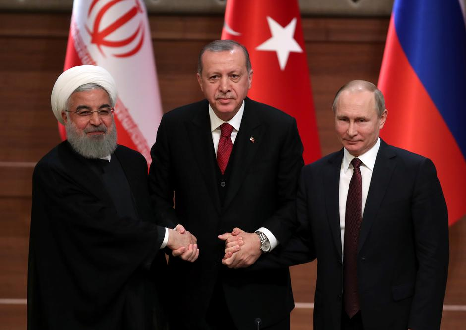 Image result for Leaders of Turkey, Russia, Iran meet