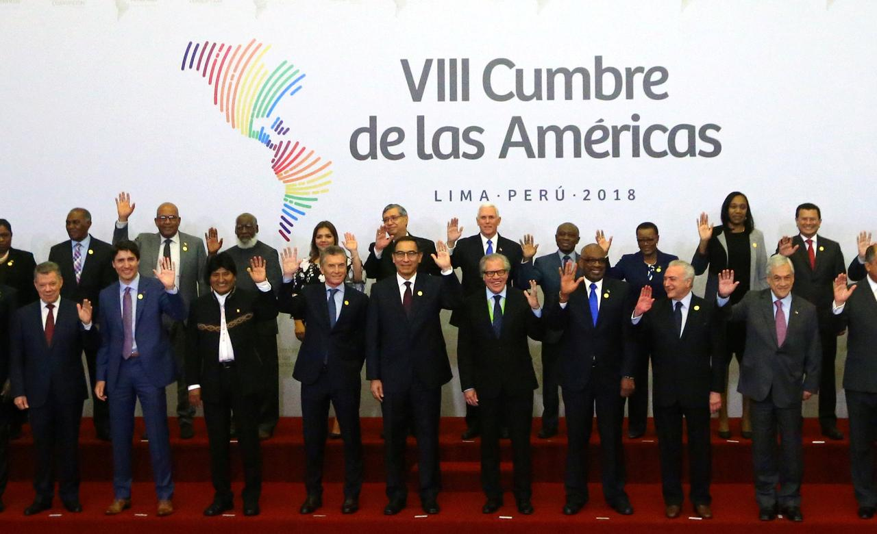 Image result for Americas leaders open summit by weighing in on U.S. strikes in Syria